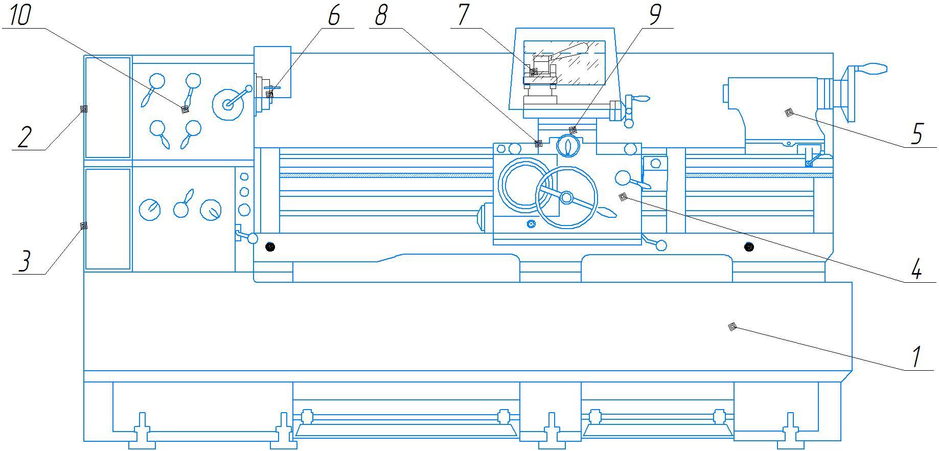 Устройство токарно-винторезного станка 1М63Н.01