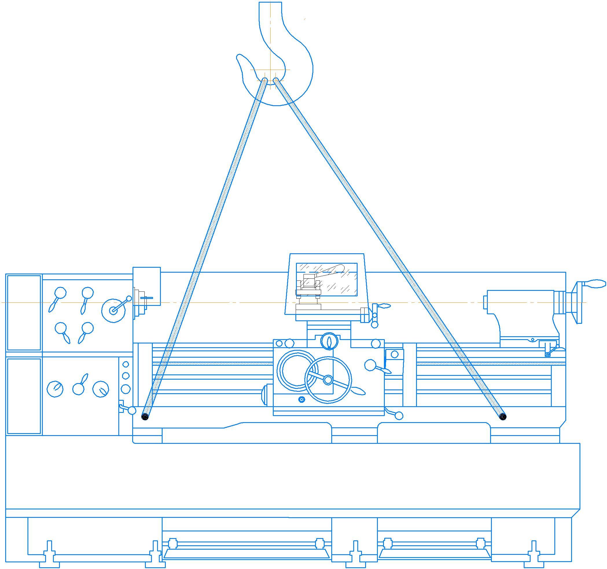 Транспортирование токарно-винторезного станка 1М63Н.01