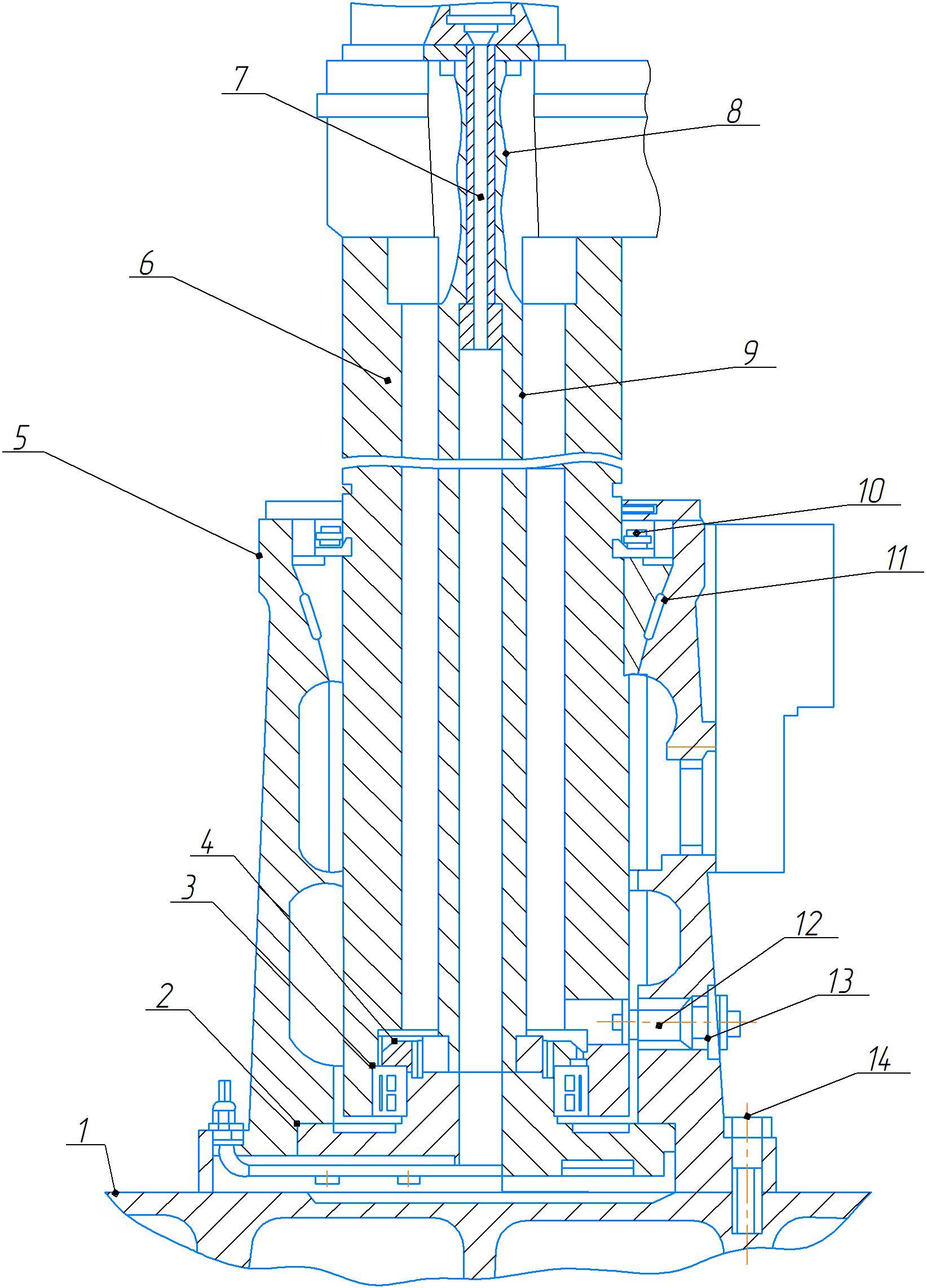 Плита, цоколь и колонна станка 2А554