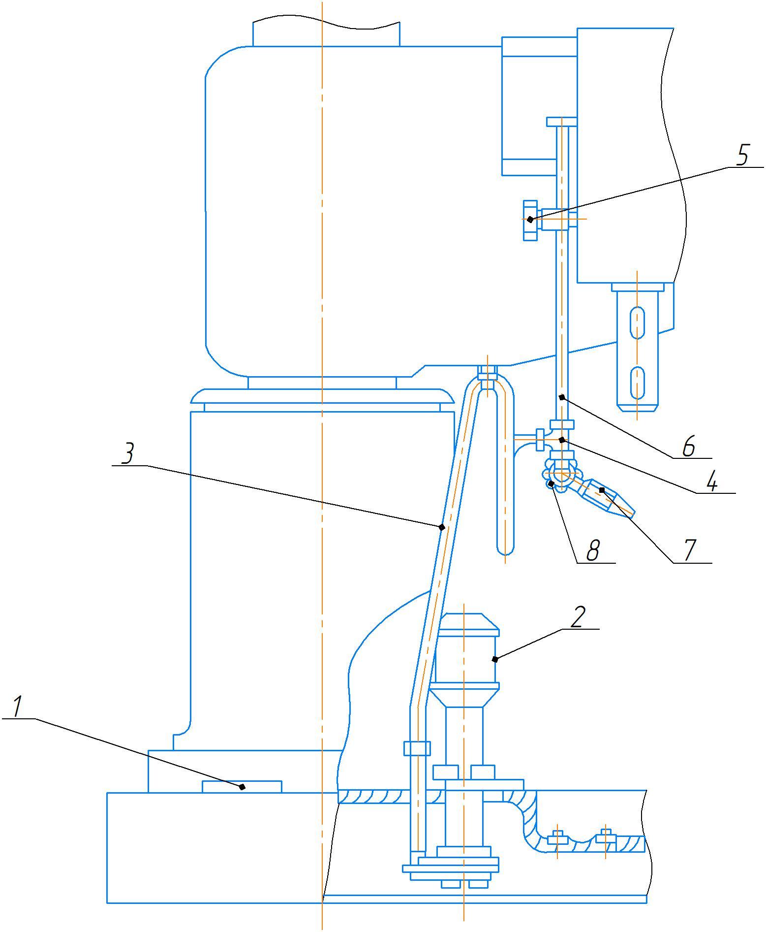 Система охлаждения станка 2А554