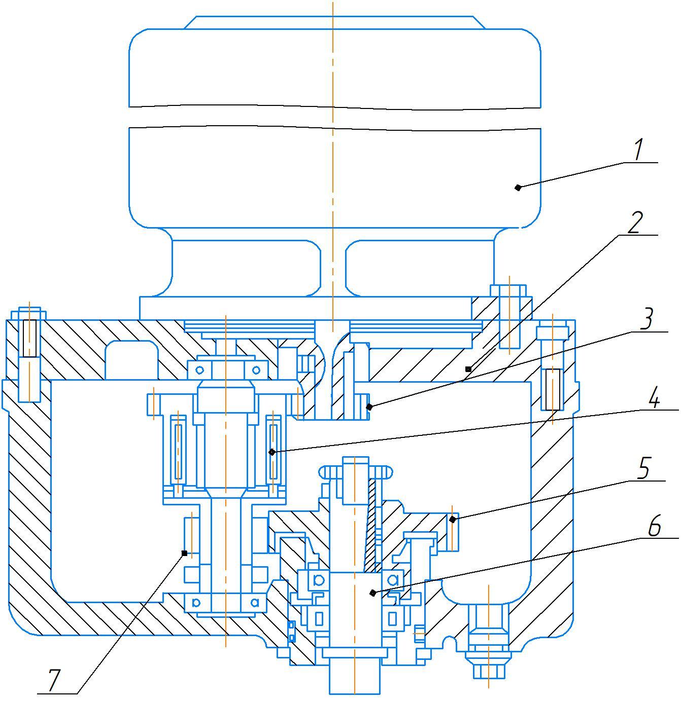Редуктор перемещения рукава станка 2А554
