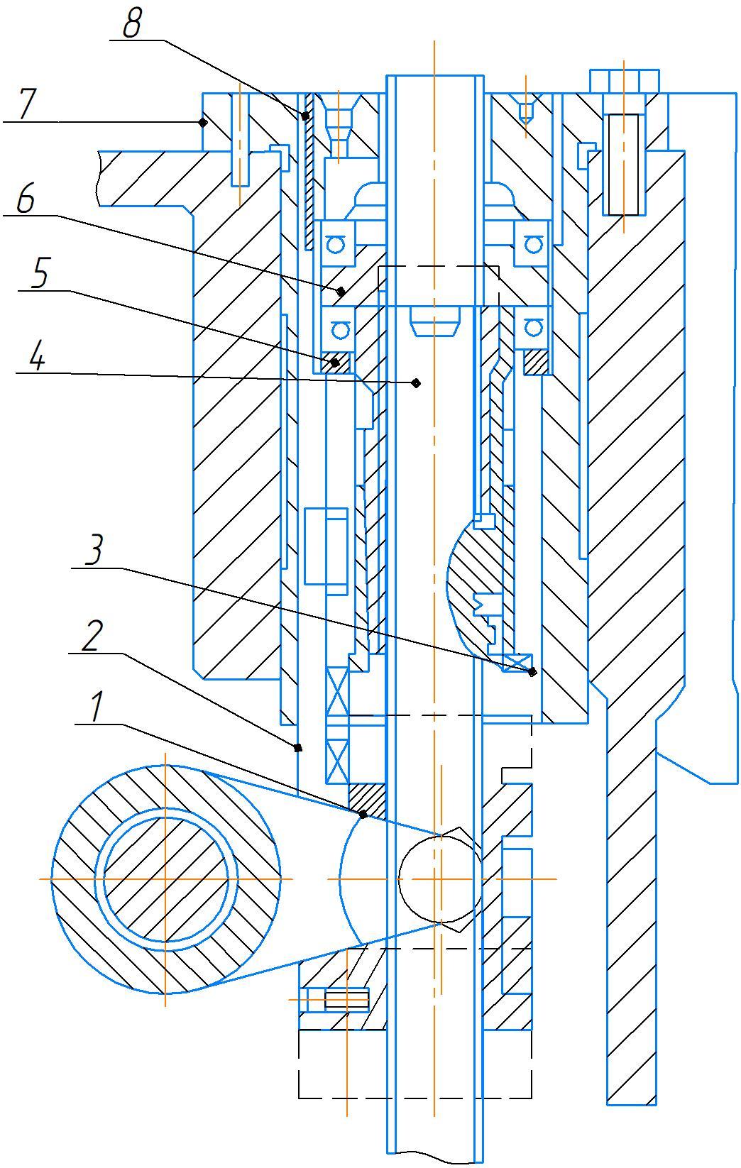 Механизма подъема рукава 2А554