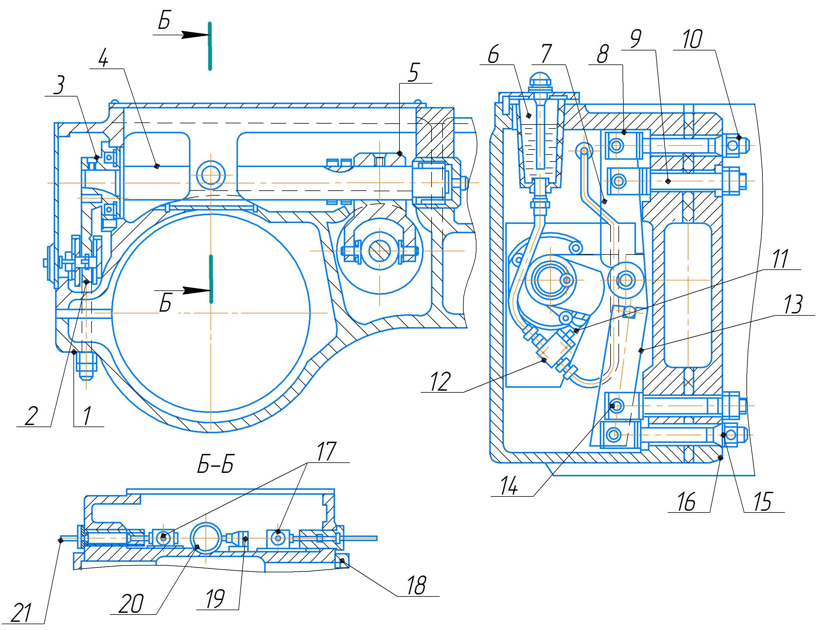 Механизм зажима рукава 2А554