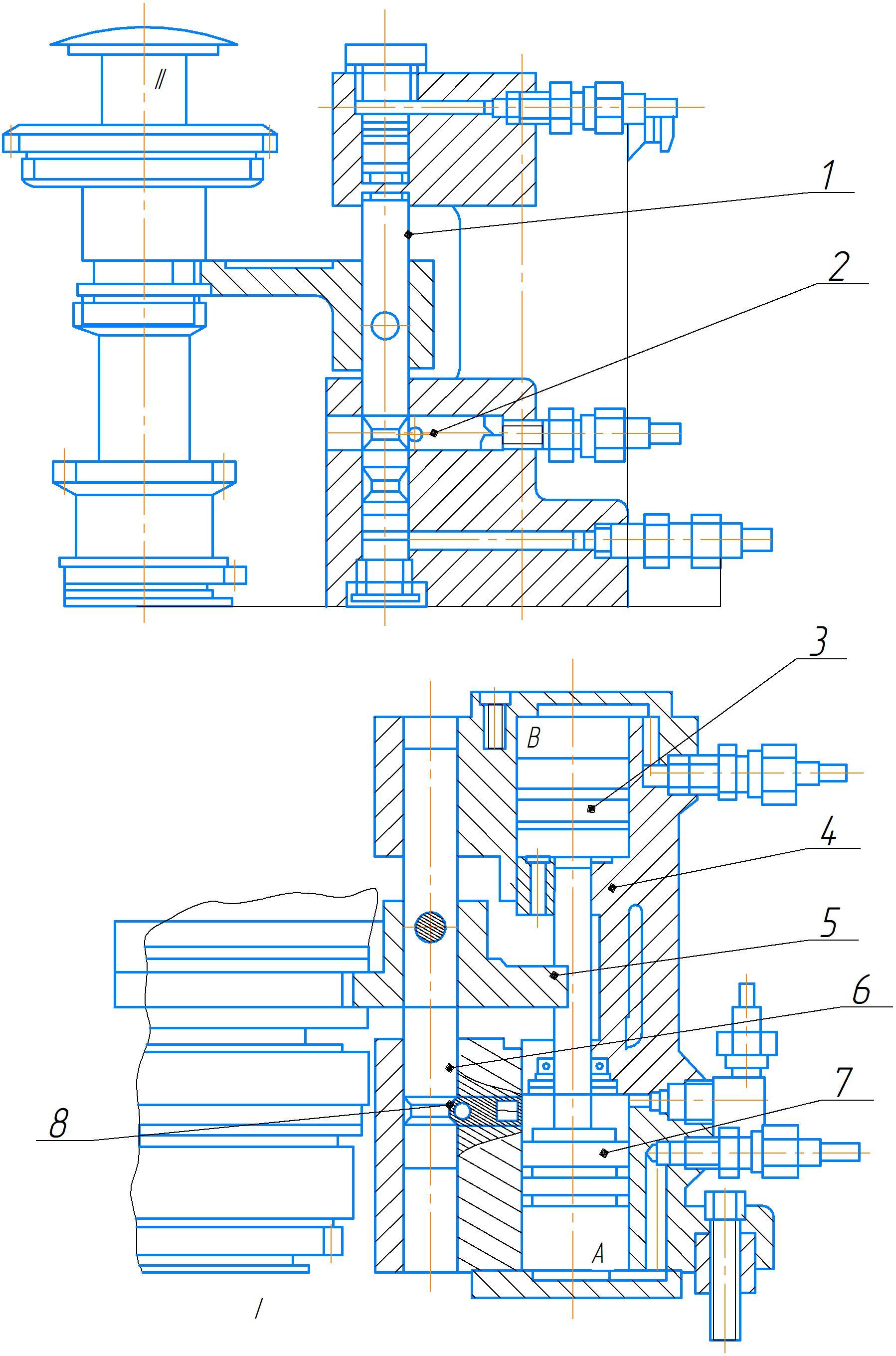 Цилиндр управления фрикционной муфтой станка 2А554