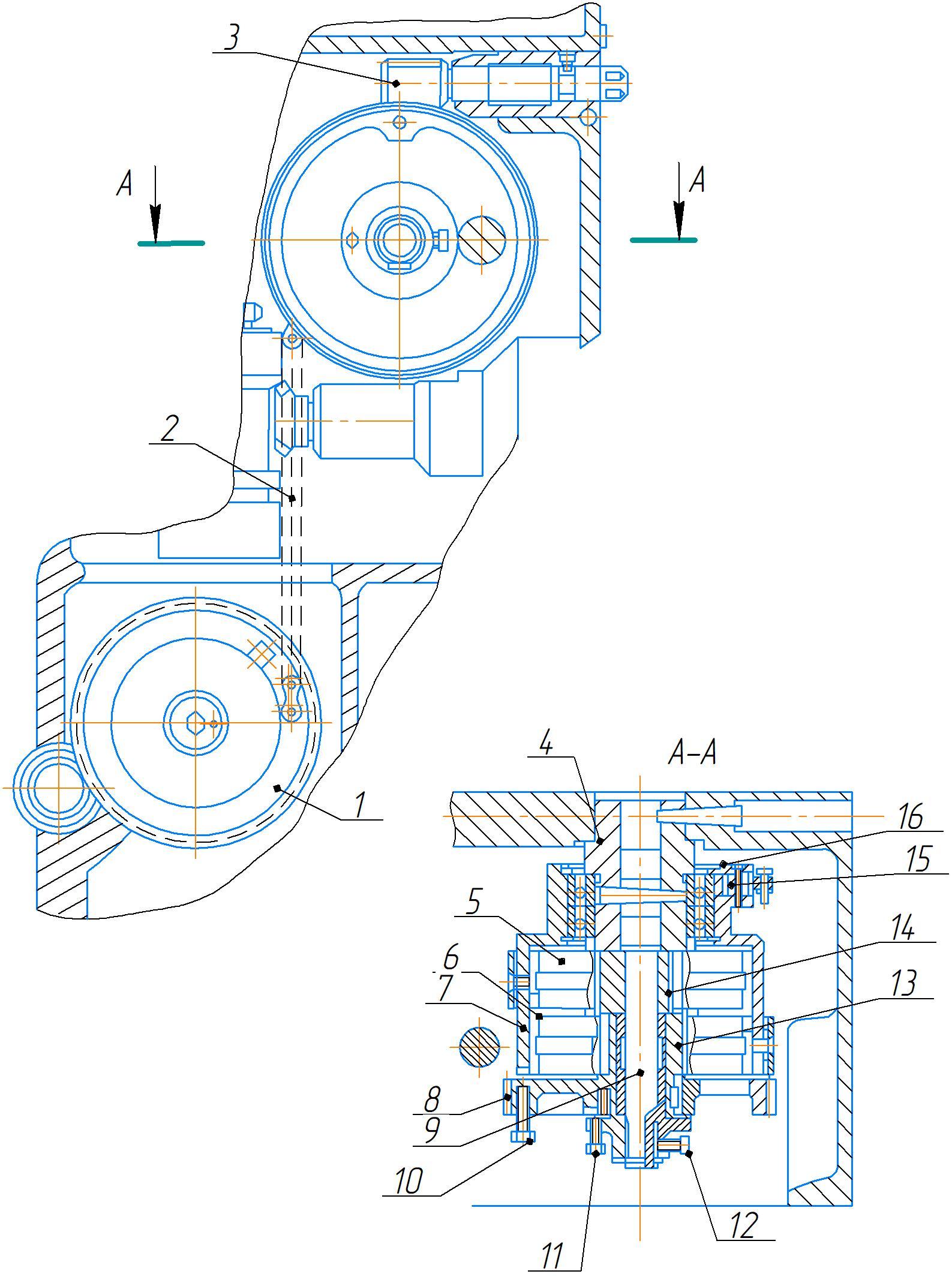 Пружинный противовес шпиндельного узла станка 2А554