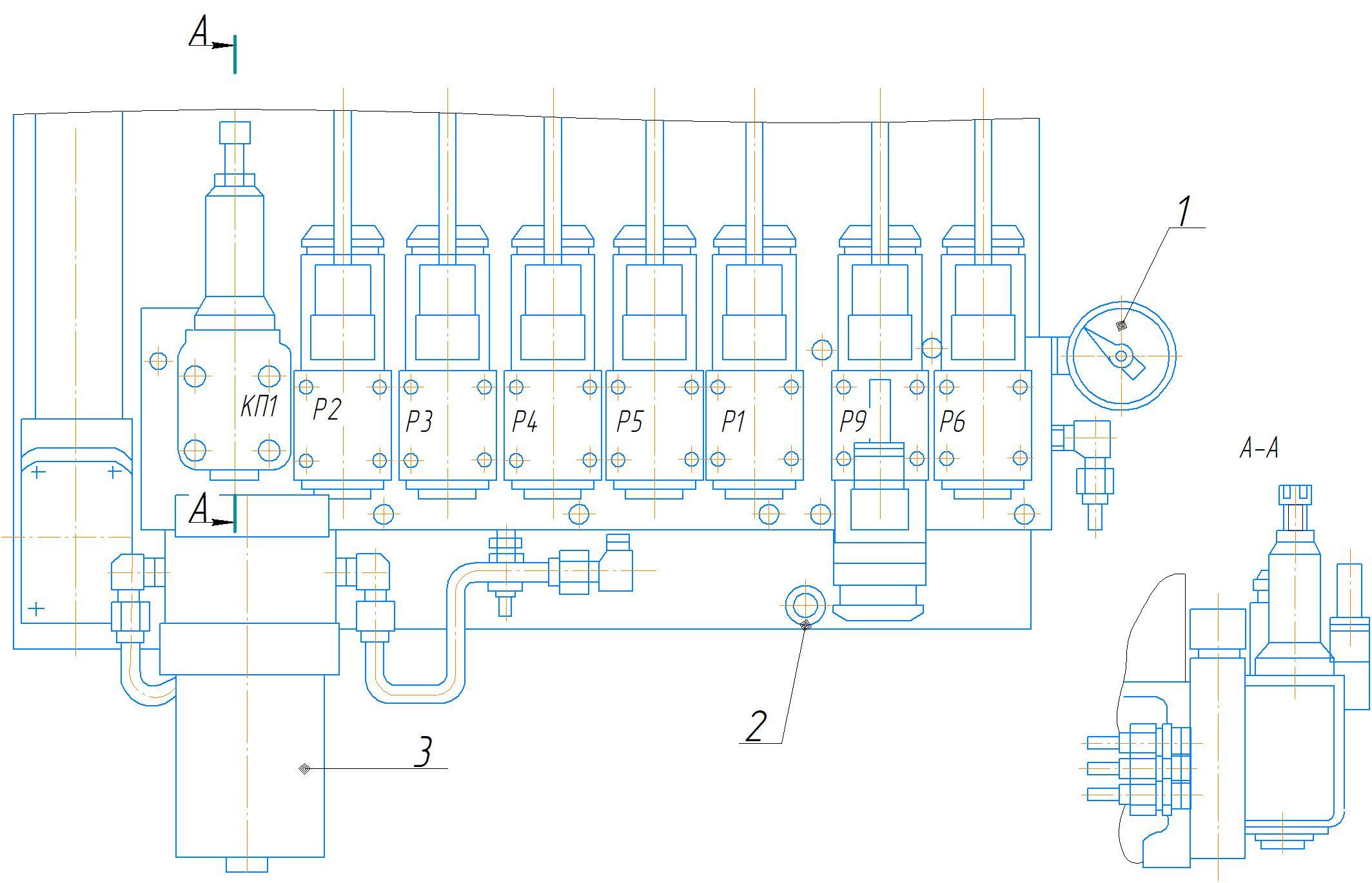 Система смазки станка 2А554