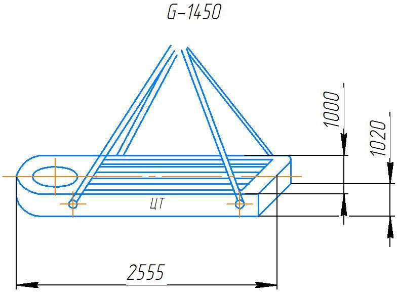 Схема транспортировки плиты станка 2А554