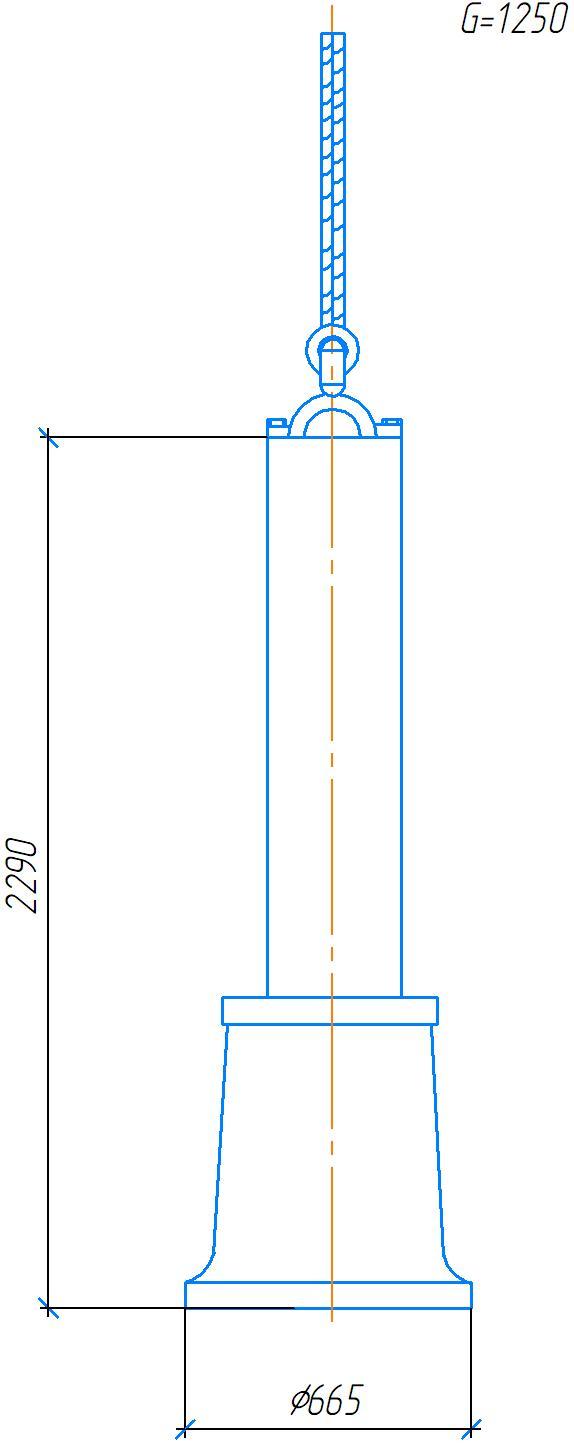 Схема транспортировки колонны станка 2А554
