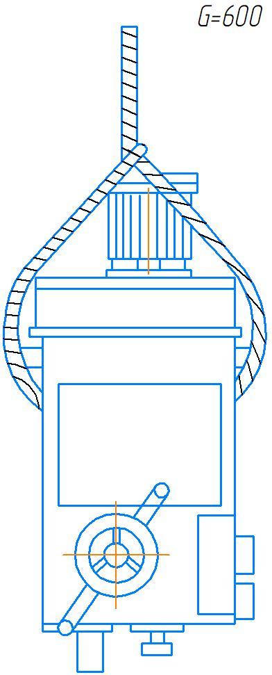 Схема транспортировки сверлильной головы станка 2А554