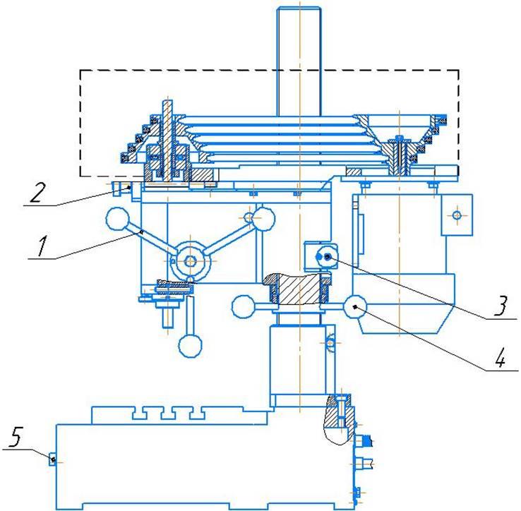 Органы управлениянастольно-сверлильного станок 2М112