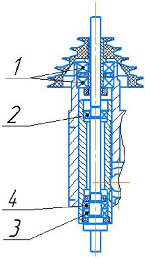 Схема расположения подшипников качения настольно-сверлильного станка 2М112