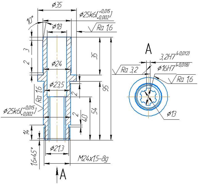Втулка шлицевая 2М112-01-01-1 сверлильного станка 2М112