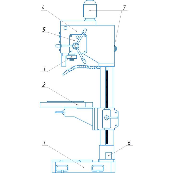 Расположение составных частей 2С125МП