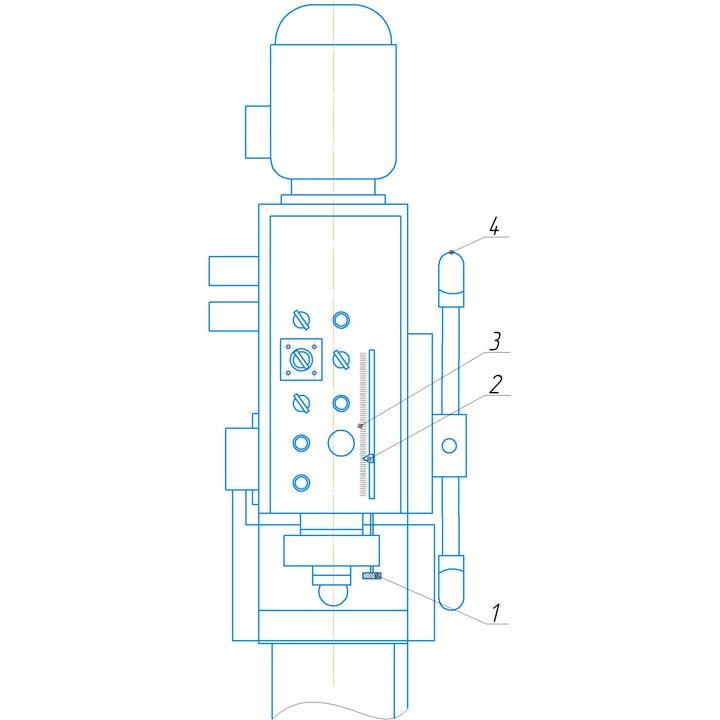 Механизм настройки глубины сверления 2С125МП