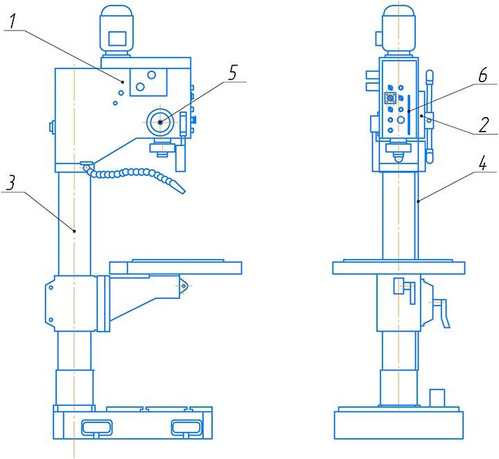 Схема смазки 2С125МП