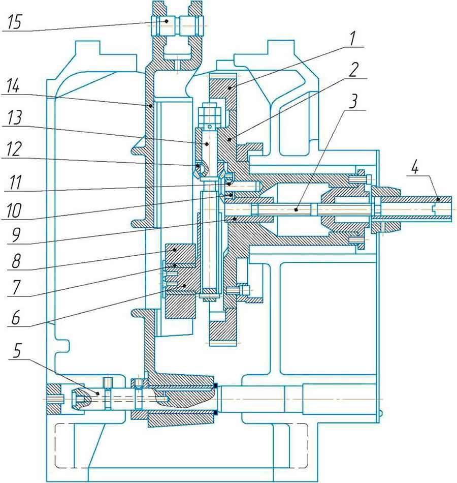Механизм кулисный станка поперечно-строгального 7305ГТ