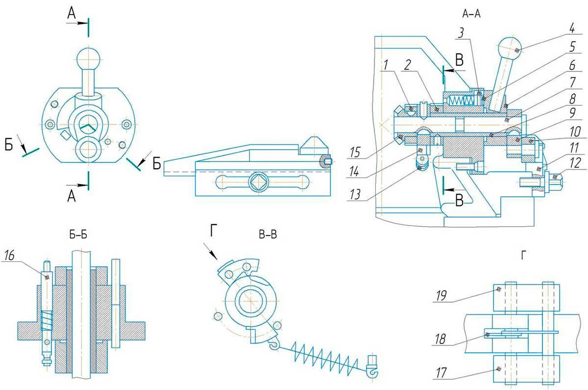 Механизм вертикальной подачи суппортастанка 7307ГТ