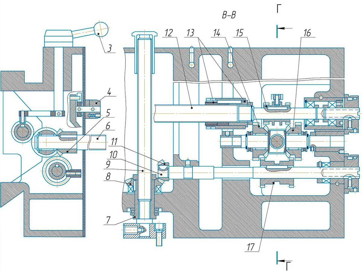 Коробка подачпоперечно-строгального станка 7307ТД
