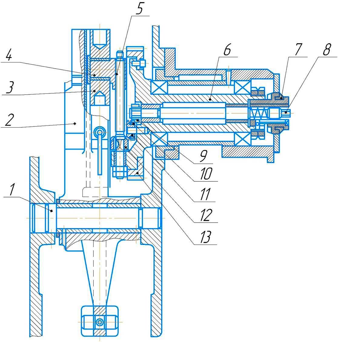 Механизм кулисный долбежного станка 7А420