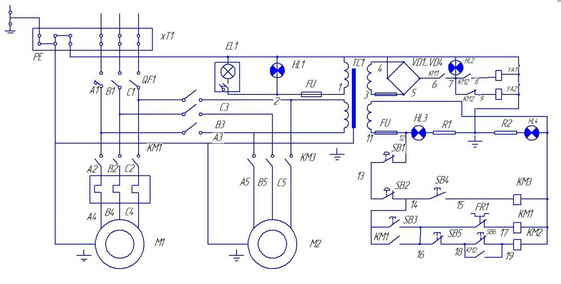 Схема электрическая принципиальная: