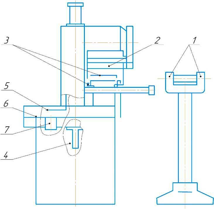 Схема смазки абразивно-отрезного станка 8Г240