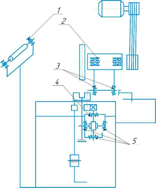 Схема расположения подшипников абразивно-отрезного станка 8Г240