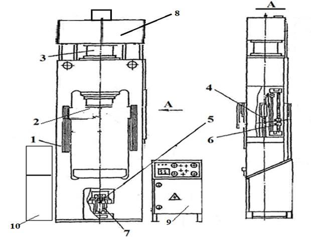пресс гидравлический ДЕ2428, ДГ2428    для изготовления изделий из пластмасс
