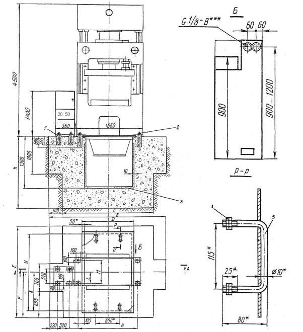 План фундамента ДЕ2436