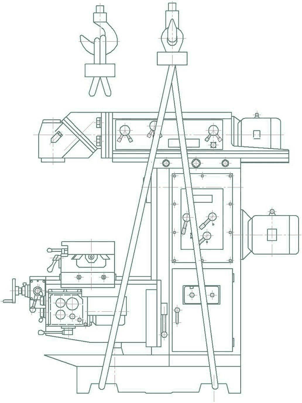 Транспортирование широкоуниверсального фрезерного станка ФУ-1600/500