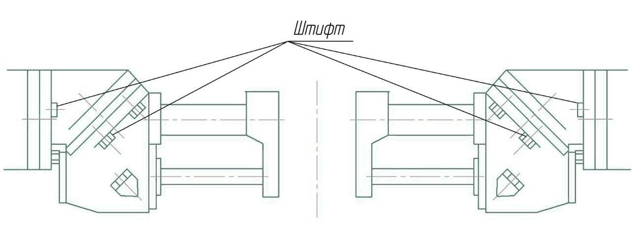 оложение горизонтального шпинделя станка ФУ-1600/500