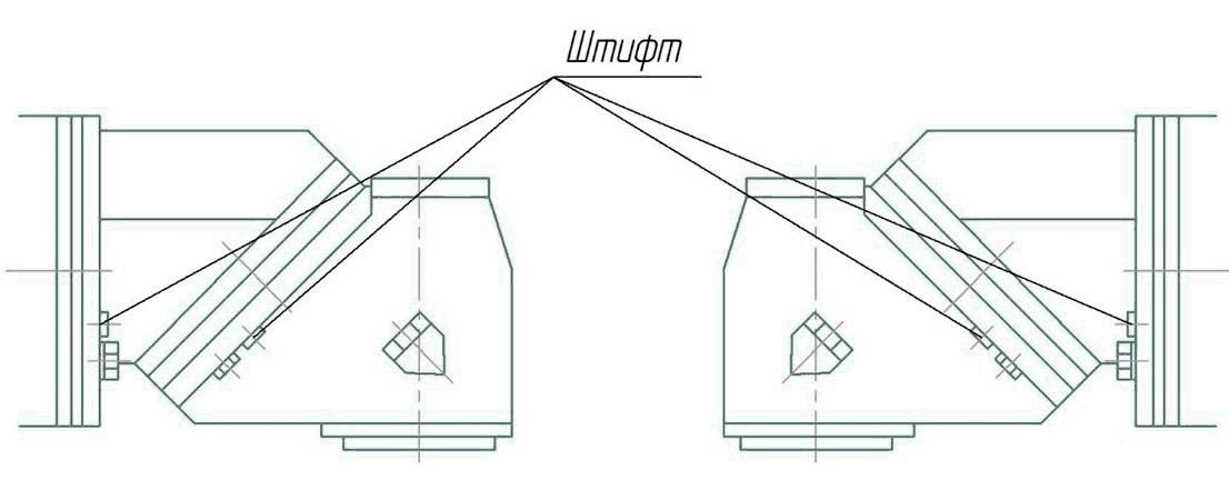 Положение горизонтального шпинделя фрезерного станка ФУ-1600/500