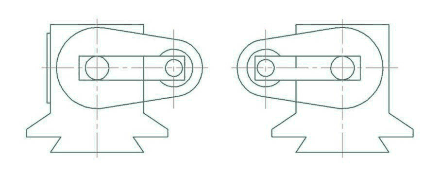 Угол наклона шпинделя выбирается путем регулировки передней и задней коробки. Регулируемый угол проверяется по таблиц
