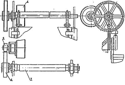 Приводной и коленчатый валы ножниц  кривошипных Н3118