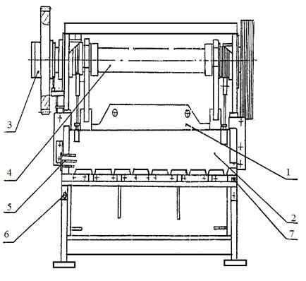 Конструкция  ножниц гильотинных Н-478.01