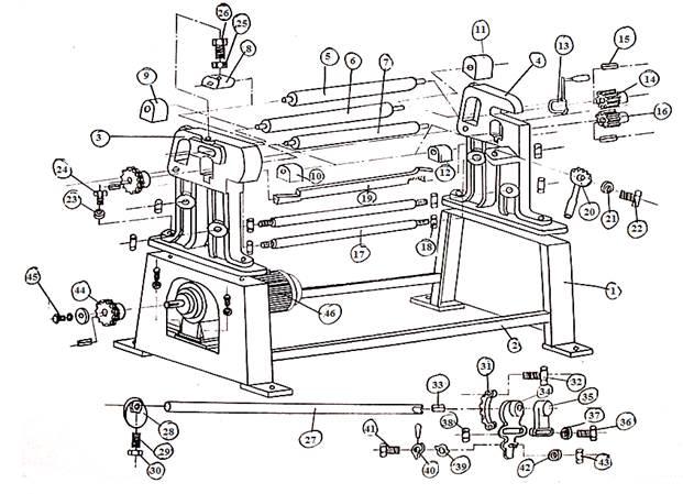 Листогибочная машина (Вальцы)  ИБ2212Г