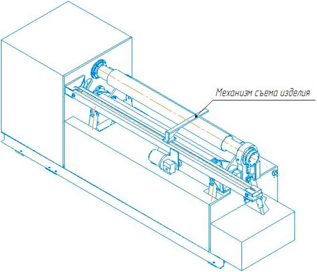 Общий вид машины листогибочной трехвалковой ИБ2216 с механизмом съема изделий