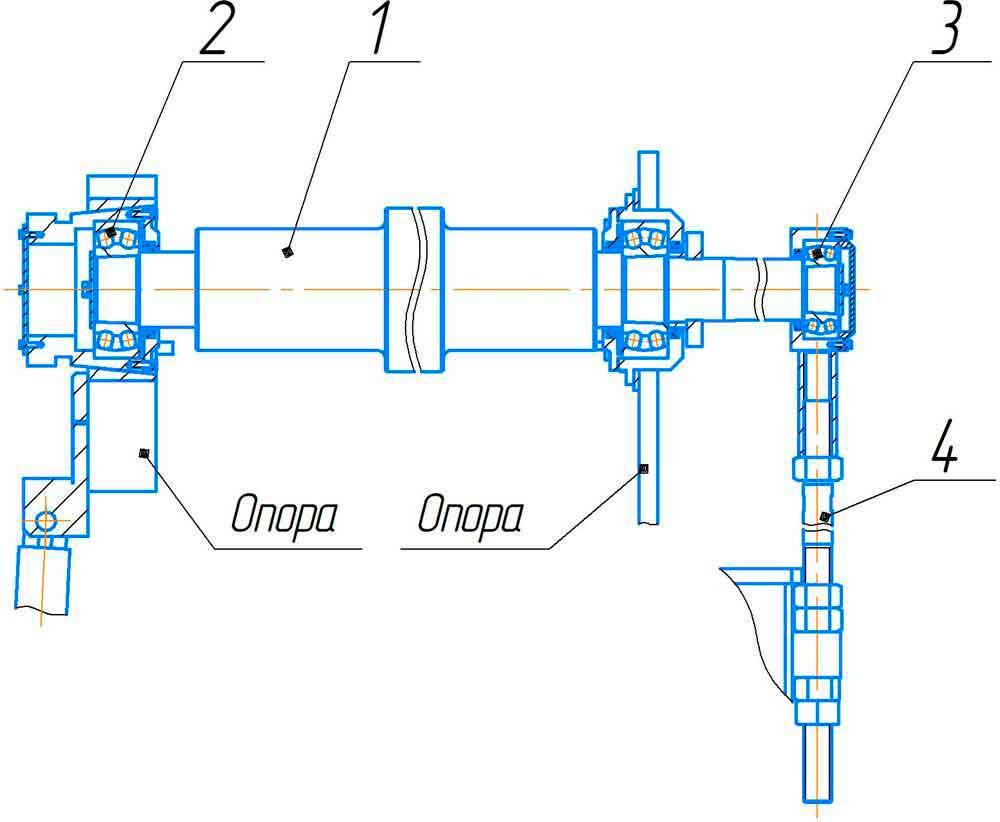 Валок верхний машины листогибочной трёхвалковой ИБ2216