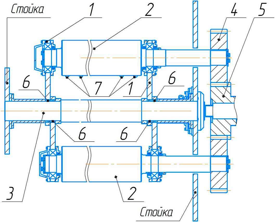 Валки боковые машины листогибочной трёхвалковой ИБ2216