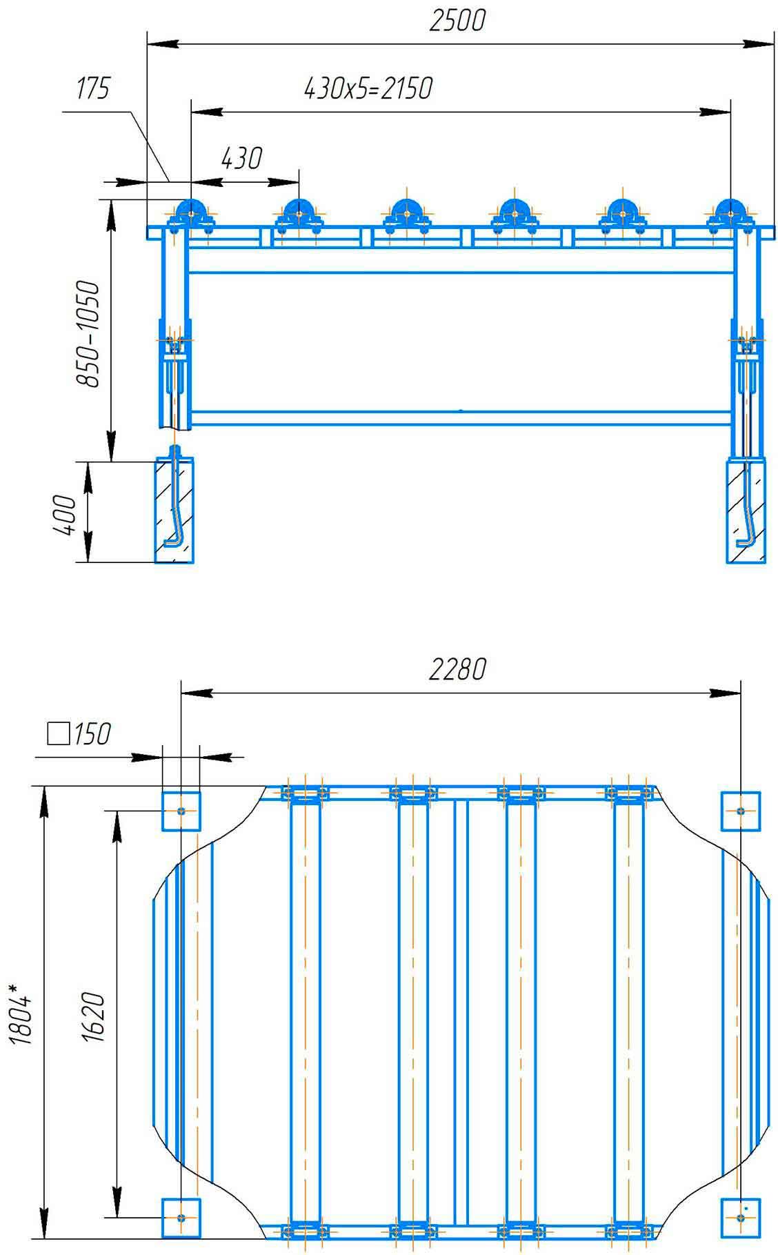 Стол передний листогибаИБ2216