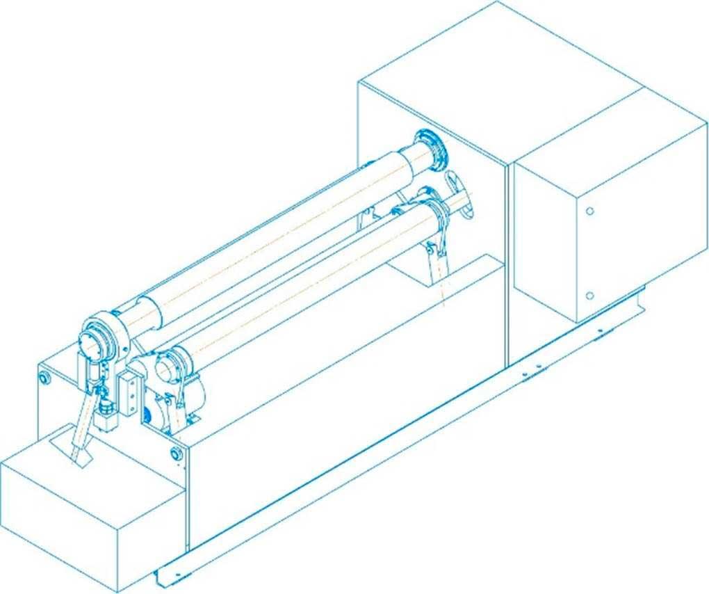 Общий вид листогибочной машины ИБ2222 без средств механизации