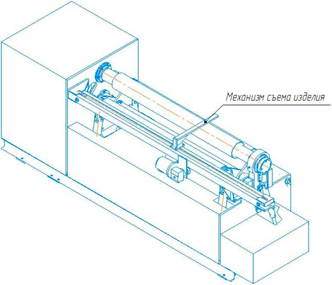 Общий вид машины листогибочной  трехвалковой ИБ2222 с механизмом съема изделий