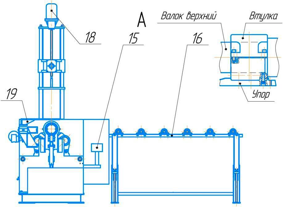 Общий вид  листогибочная  трёхвалковая ИБ 2222