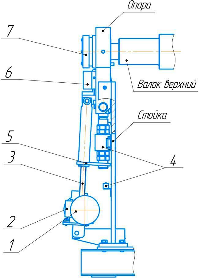Механизм наклона откидной опоры ИБ2222