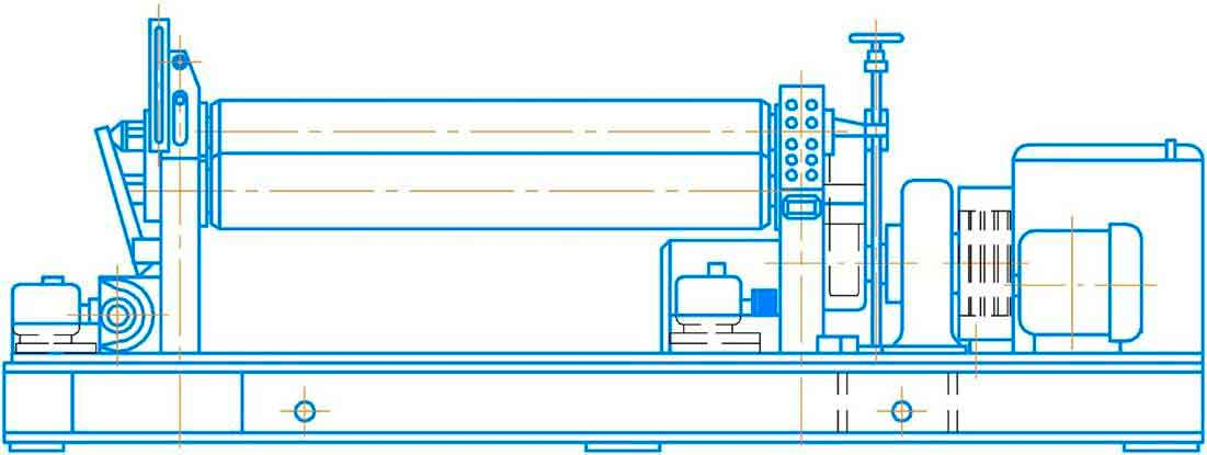 Общий вид листогибочной машины ИБ2223