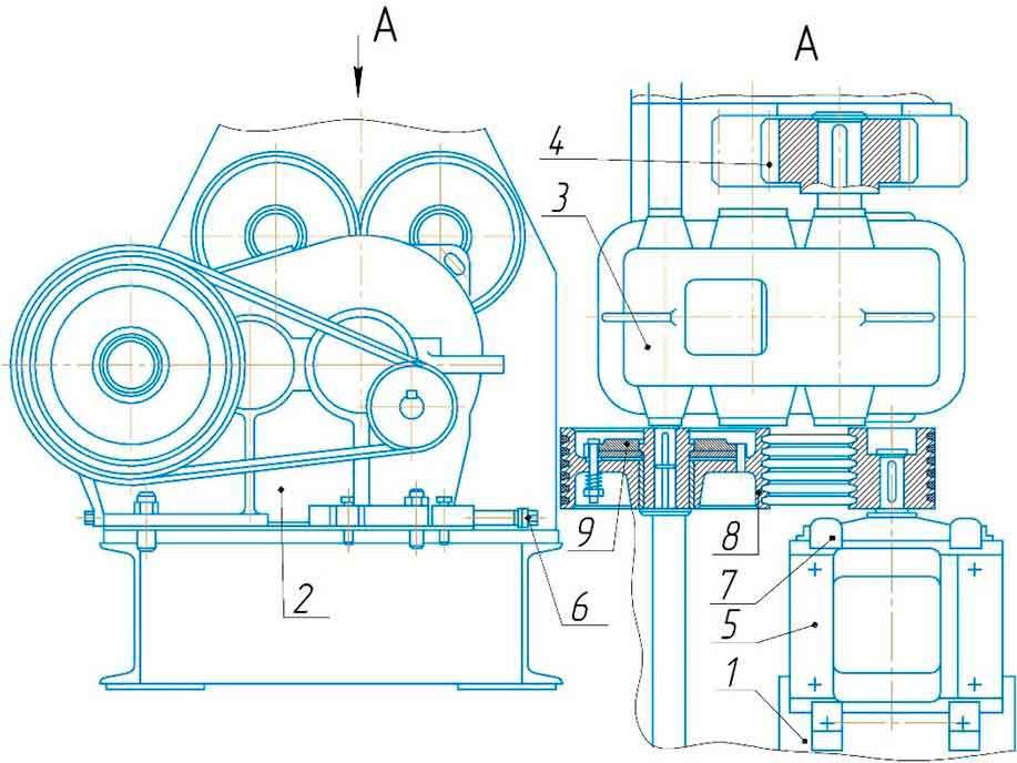 Привод машины листогибочной ИБ2223