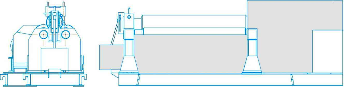 Общий вид листогибочной машиныИБ2224