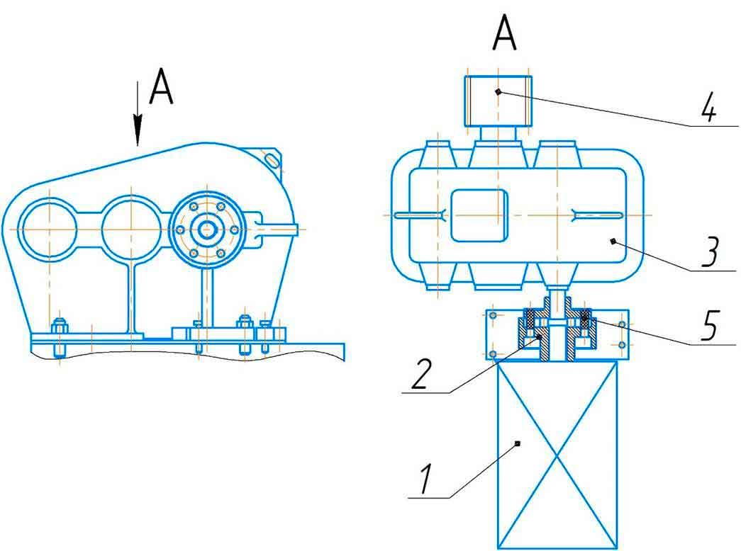 Привод машины листогибочной ИБ2224