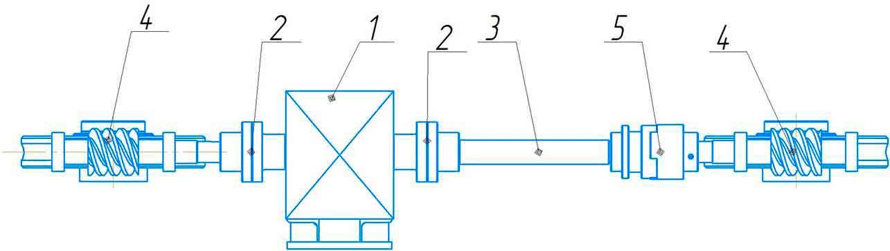 Механизм перемещения верхнего валка ИБ 2224