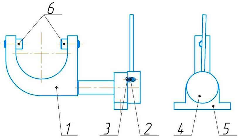 Механизм ручного отключения правого редуктора ИБ2224