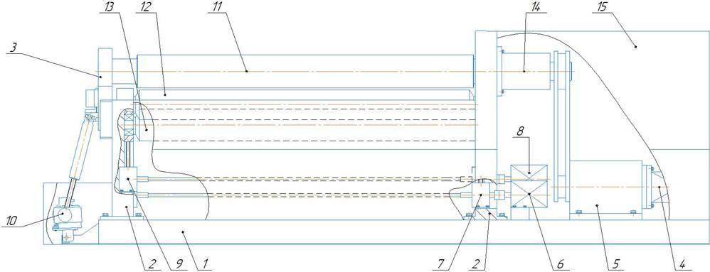 Перечень основных частей машины листогибочной четырехвалковой ИБ 2420